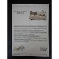 Document Officiel La Poste - Journée Du Timbre 1987 - Documents Of Postal Services