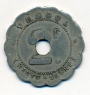JETON De TRANSPORT // VESOUL (70) // SOCIETE COOPERATIVE DES EMPLOYES DE CHEMIN DE FER // 2 Francs // Variété - Monetary / Of Necessity