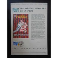 Document Officiel La Poste - Journée Du Timbre 1990 - Documents Of Postal Services