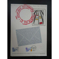 Document Officiel La Poste - Journée Du Timbre 1991 - Documents Of Postal Services