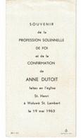 Anne Dutoit Communion à Woluwé Saint Lambert En 1963 - Imágenes Religiosas