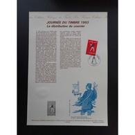 Document Officiel La Poste - Journée Du Timbre 1993 - Documents Of Postal Services