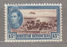 BRITISH HONDURAS 1938 Airplane Bay Trees MLH (*) Mi 118 #17040-1 - British Honduras (...-1970)