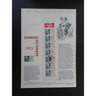 Document Officiel La Poste - Carnet Journée Du Timbre 1995 - Documents Of Postal Services
