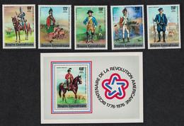 Central African Empire Bicentenary Of American Revolution 5v+MS 1977 MNH SG#476-MS481 CV£14.05 - República Centroafricana