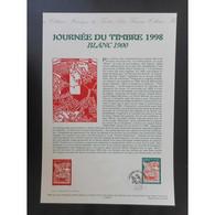 Document Officiel La Poste - Journée Du Timbre 1998 - Documents Of Postal Services