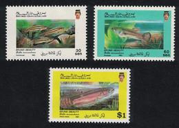 Brunei Aquarium Fish Brunei Beauty 3v 1991 MNH SG#489-491 CV£7.- - Brunei (1984-...)