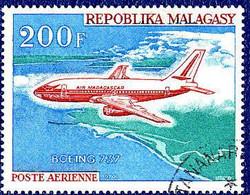 Madagascar 1970 Aviation Commerciale Malgache  Airlines  Boeing 737 - Aerei