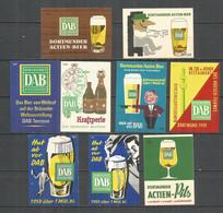 Germany 9 Old Matchbox Labels - Matchbox Labels