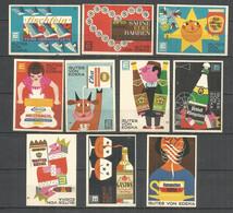 Germany 10 Old Matchbox Labels - Matchbox Labels