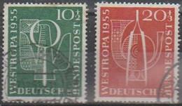115/Mi: 217/18;Used;1955;Cat  €   20.00 - Used Stamps