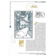 Document Officiel La Poste - Fête Du Timbre - La Valse - Documents Of Postal Services