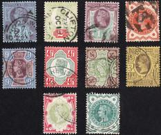 Lot 10 Timbres Jubilé Reine Victoria Oblitérés TTB Oblitérations à étudier - Used Stamps