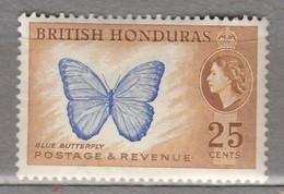 BRITISH HONDURAS 1953 Butterfly MLH (*) Mi 148 #17046 - British Honduras (...-1970)