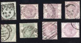 Lot Timbres Reine Victoria Oblitérés TTB Jersey Oblitérations à étudier - Used Stamps