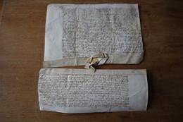 2 Diplômes Actes Datés De 1444 Sur Vélin Bien Lisible  Très Bel état - Manoscritti