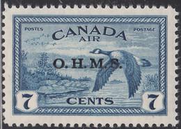 Canada 1946 MH Sc #CO1 O.H.M.S. On 7c Canada Goose - Surchargés