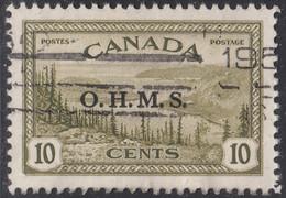 Canada 1949-50 Used Sc #O6 O.M.H.S. On 10c Great Bear Lake - Surchargés