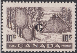 Canada 1950-51 MNH Sc #O26 G On 10c Fur - Drying Pelts - Surchargés