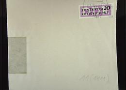 DDR: ZKD-Brief Mit 20 Pf EF Vom VEB WUTRA-Werk Masch.Fabrik Wurzen In Sachsen Vom 19.11..57 Nach Riesa Knr: B 11 (1411) - Official
