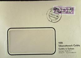 DDR: ZKD-Brief Mit 20 Pf EF Vom VEB Schamottewerk Colditz In Sachsen Vom 4.10..57 Nach Grimma Knr: B 11 (1407) - Official