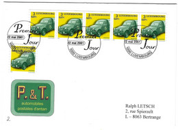 Luxembourg 2001 Citroen 2CV Fourgonnette ¦ ¦ Kastenwagen 1965 - Briefe U. Dokumente
