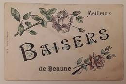 Baisers De Beaune (Côte D'Or, 21), - 2 Roses - Dessin Signé G Harel - Beaune