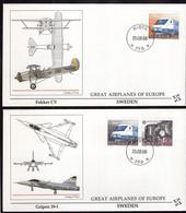 Sweden - 1988 - EUROPA CEPT 1988 - Fokker CV - Gripen 39-I - 1988