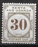 Kenya And Uganda Mint Hinged * Postage Due Best Of Set 30 Euros 1928 - Kenya & Uganda