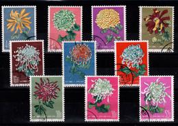 Chine - Fleurs / Flowers De 1960 , 10 Valeurs Oblitérés Entre YV 1328 Et YV 1345 Dont 44.18-15 / 44.18.16 / 44.18-18 - Usati