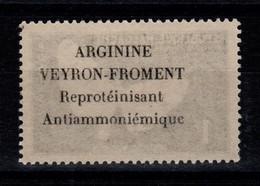 Madagascar - Rare Publicite ARGININE VEYRON FROMENT Au Dos Du 1 Franc Papillon N** - Madagascar (1960-...)