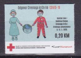 Bosnia Sarajevo 2020 Red Cross Fight Against Covid 19 Health Disease Medicine Croix Rouge Rotes Kreuz MNH - Bosnien-Herzegowina