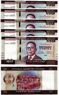 Liberia - 10 Pcs X 20 Dollars 2016 UNC Lemberg-Zp - Liberia