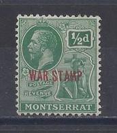 """MONTSERRAT..KING GEORGE V..(1910-36.)...."""" 1917..""""......WAR TAX........HALFd.......SG60.....MH... - Montserrat"""