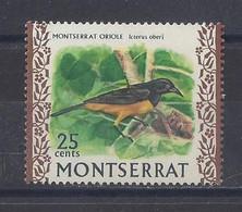 """MONTSERRAT...QUEEN ELIZABETH II...(1952-NOW..)...."""" 1970..""""....MONTSERRAT ORIOLE........25c......SG250.........MH... - Zangvogels"""