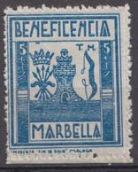 BENEFICENCIA MARBELLA - MALAGA - Vignette Della Guerra Civile