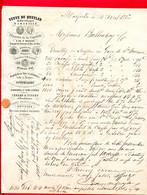 (Ref : F&T 074) Factures & Documents Commerciaux VEUVE QUEYLAR VERRERIES DE LA CARPETTE MARSEILLE - 1900 – 1949