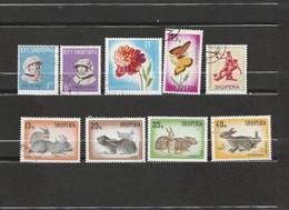 Albanie Lot 9 Timbres - 1965 - YT 767, 769 - 1967 - YT 971 - 1966 - YT 878, 868 - Année 1967 - YT 1020, 1022, 1023, 1024 - Albania
