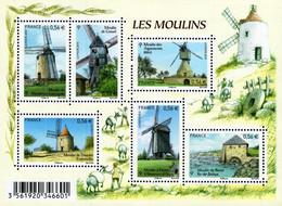 France - 2010 - Famous French Mills - Mint Souvenir Sheet - Ongebruikt
