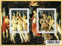 France - 2010 - Sandro Boticelli - The Spring - Mint Souvenir Sheet - Ongebruikt