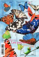 France - 2010 - Butterflies - Mint Souvenir Sheet With Varnish And Embossing - Ongebruikt