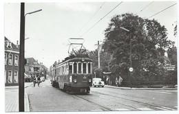 Oegstgeest  Blauwe Tram Leiden Strassenbahn Trolley Geversstraat  NZH 1960's - Leiden