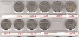 FRANCE Monnaies  Lot 10 Pièces 100 Francs Cupro-nickel Cochet Toutes Différentes TB G897 - N. 100 Francs