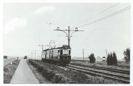 Voorschoten Blauwe Tram Leiden Den Haag Strassenbahn Trolley Korte Vliet  NZH 1960's - Leiden