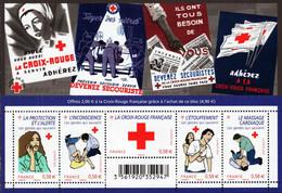 France - 2010 - French Red Cross - Mint Souvenir Sheet - Ongebruikt