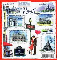 France - 2010 - European Capitals - Paris - Mint Souvenir Sheet - Ongebruikt