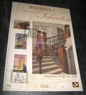 Hommage à François Schuiten° -  Mooie Genummerde Kaart - Angoulême 2003, De La B.D.à La Philatélie (Belle Format A5) - Herdenkingskaarten