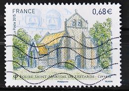 FRANCE 2015 - Timbre N° 4967 - Eglise St Martial De Lestards - 2010-.. Matasellados