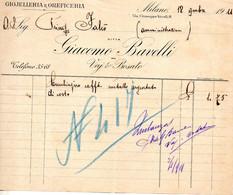 1911 MILANO  - GIOIELLERIA GIACOMO BAVELLI - Italië