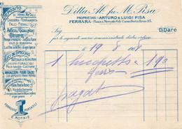 1908 FERRARA - LUIGI PISA , CHIODERIA FERRAMENTA - Italië